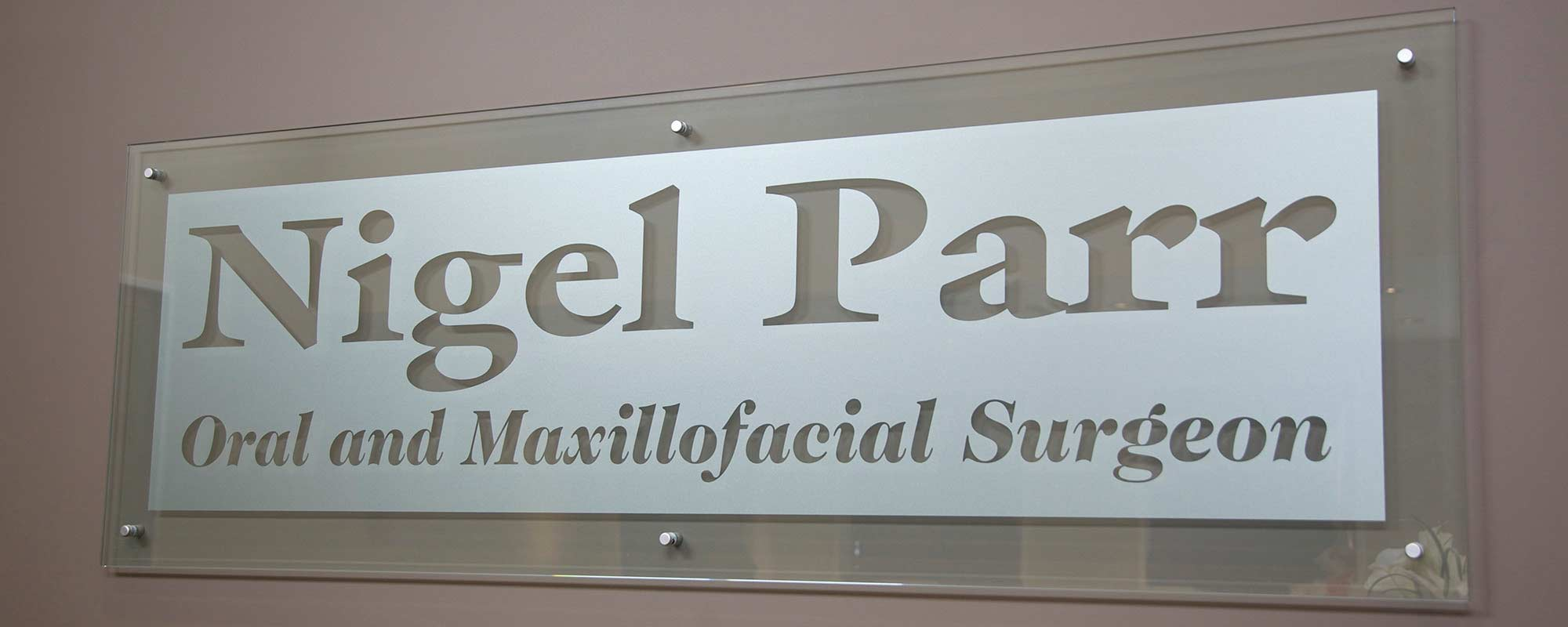 Nigel Parr Green Lane Day Stay Surgical Ltd Sign